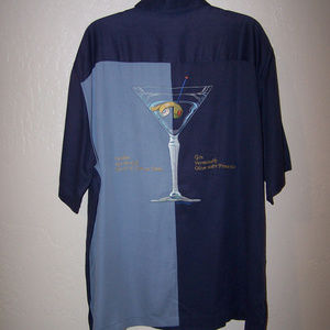 TORI RICHARD EMBROIDERED MARTINI GLASS SHIRT S1815
